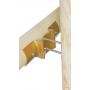 Łącznik belki drewnianej okrągłej - podstawowy - LBO ZN 203x68x2,5