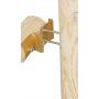 Łącznik belki drewnianej okrągłej - końcowy - LBO ZN 145x68x2,5