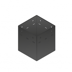 Ozdobna podstawa słupa - do betonu czarna - SDP 90A