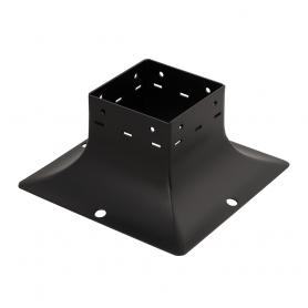 Ozdobna podstawa słupa - do betonu czarna - SDP 90B