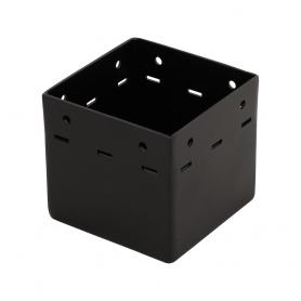 Ozdobna podstawa słupa - do betonu czarna - SDP 100A