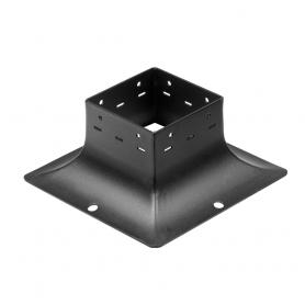 Ozdobna podstawa słupa - do betonu czarna - SDP 100B