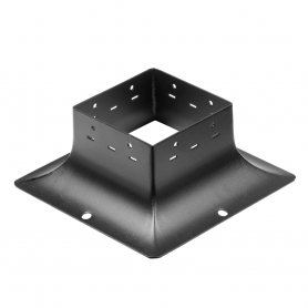 Ozdobna podstawa słupa - do betonu czarna - SDP 120B