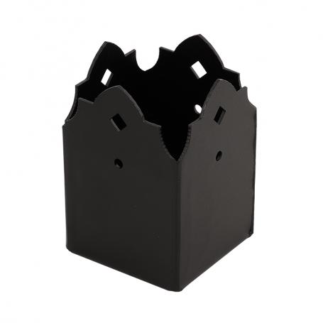Ozdobna podstawa słupa - do betonu czarna - SDSP