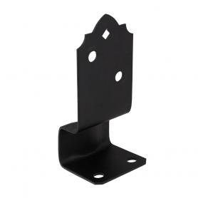 Podstawa słupa do betonu - ozdobna czarna - SDPSK
