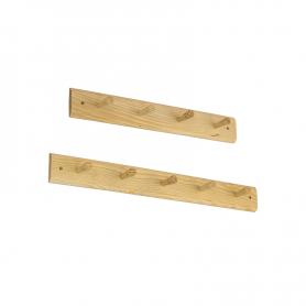 Wieszak ścienny na ubrania drewniany - WUX03