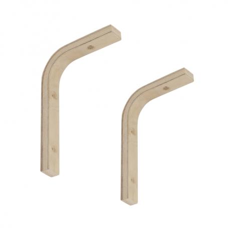 Wspornik do półek - podpora drewniana - WDGL 2 szt