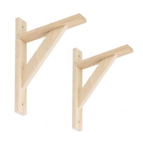 Wspornik do półek - podpora drewniana - WDW BUK 2 szt