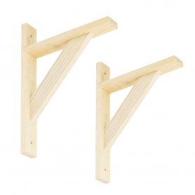 Wspornik do półek - podpora drewniana - WDW SOSNA 2 szt