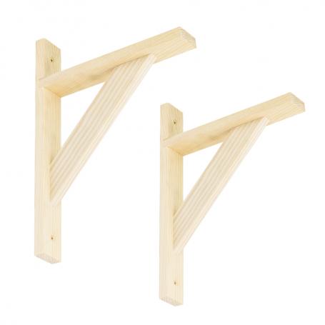 Wspornik do półek -  podpora drewniana 2x WDW SOSNA