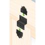 Ozdobny łącznik do drewna - czarny typu Z - SDLZ