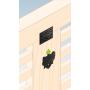 Ozdobny łącznik do drewna - płaski czarny - SDLPA