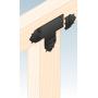 Ozdobny łącznik do drewna - płaski czarny - SDLPB