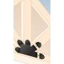 Ozdobny łącznik do drewna - pięcioramienny płaski czarny - SDLPC