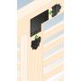 Ozdobny łącznik do drewna - płaski czarny - SDLPD