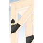 Ozdobny łącznik do drewna - płaski czarny - SDLPE
