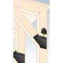Ozdobny łącznik do drewna - płaski czarny - SDLPF