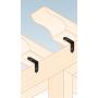 Ozdobny łącznik do drewna - wąski czarny - SDSKW
