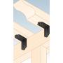 Ozdobny łącznik do drewna - czarny z przetłoczeniem - SDSKP
