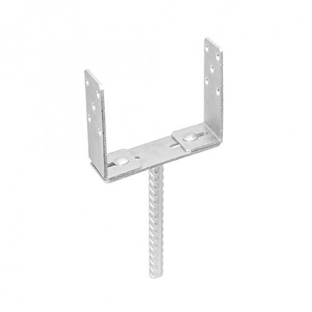 Pfostenträger – höhenverstellbar – PSRU 60-200x136x4,0