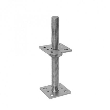Pfostenträger, höhenverstelbar zum Aufschrauben - PSR 80x250x4,0