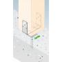 Podstawa słupa - kotwa do betonu regulowana - PSRU
