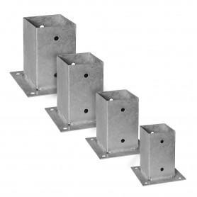 Podstawa słupa - przykręcana do betonu prostokątna - PSP