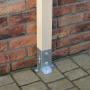 Podstawa słupa - przykręcana do betonu otwarta- PSP DX