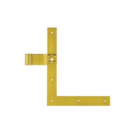 Zawias narożnikowy prosty (L+P) - ocynk - ZN