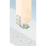 Podstawa słupa - wkręcana do betonu regulowana - PSRT