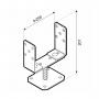 Podstawa słupa - przykręcana do betonu regulowana - PSRT