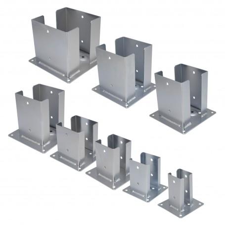 Podstawa słupa - przykręcana do betonu kwadratowa - PSPD