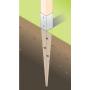 Podstawa słupa - kotwa wbijana do ziemi - PSG