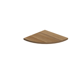 LUX Półka laminowana - narożna - BK 295x295x18