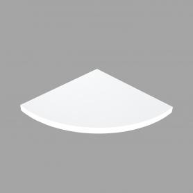 LUX Półka laminowana narożna Biała 295x295x18