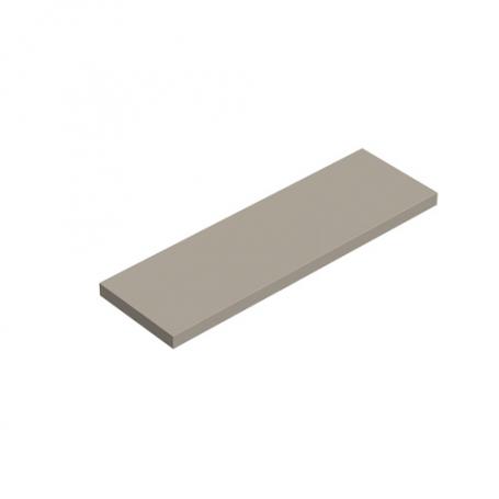 LUX Półka laminowana - prostokąt - Congo 595x195x18