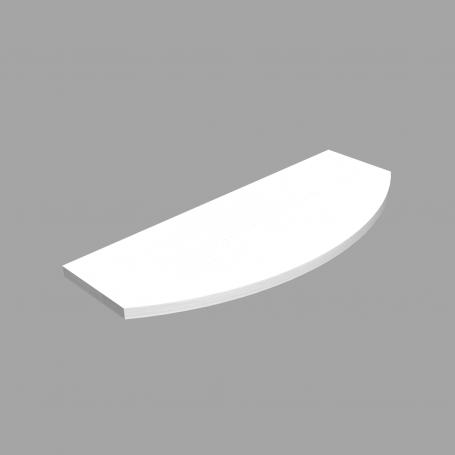 LUX Półka laminowana - owalna - Biała 595x195x145x18