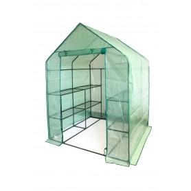 Szklarnia ogrodowa domek - 143x143x195 - Canna II zielona