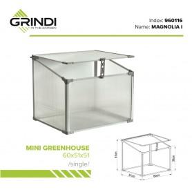 Szklarnia ogrodowa z poliwęglanu - 60x51x51 - Pojedyncza