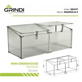 Szklarnia ogrodowa z poliwęglanu - 120x51x51 - Podwójna