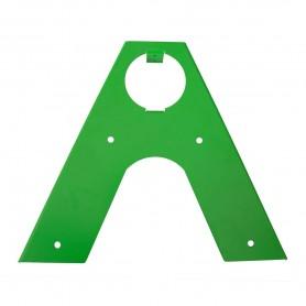 Łącznik belki okrągłej 100x350x2,0 zielony - GHKO
