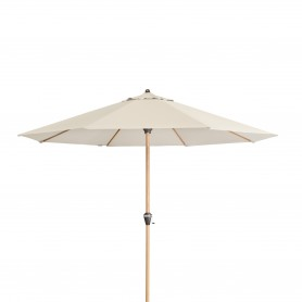 Parasol Ogrodowy drewniany - Alu Wood - beżowy - 350x264