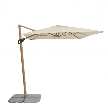 Parasol Ogrodowy drewniany - Alu Wood Pendel - 220x300