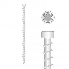 Wkręty ciesielskie pełny gwint łeb walcowy 6mm - CPW - karton
