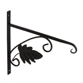 Uchwyt na kwietnik - Liść czarny - UK 2 280x275