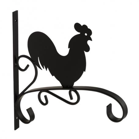 Uchwyt na kwietnik - Kogut czarny - UK 4 300x280
