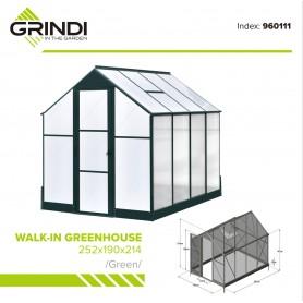 Szklarnia ogrodowa z poliwęglanu - 250x190x214 - Deluxe