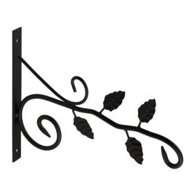 Uchwyt na kwietnik - Listki czarny - UK 5