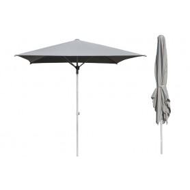 Kwadratowy składany parasol ogrodowy - szary - Sole - 250x250