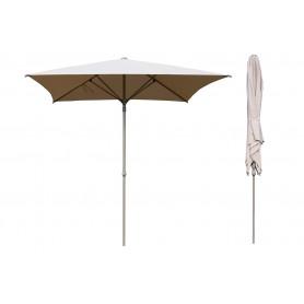 Kwadratowy składany parasol ogrodowy - beżowy - Caldo - 250x250